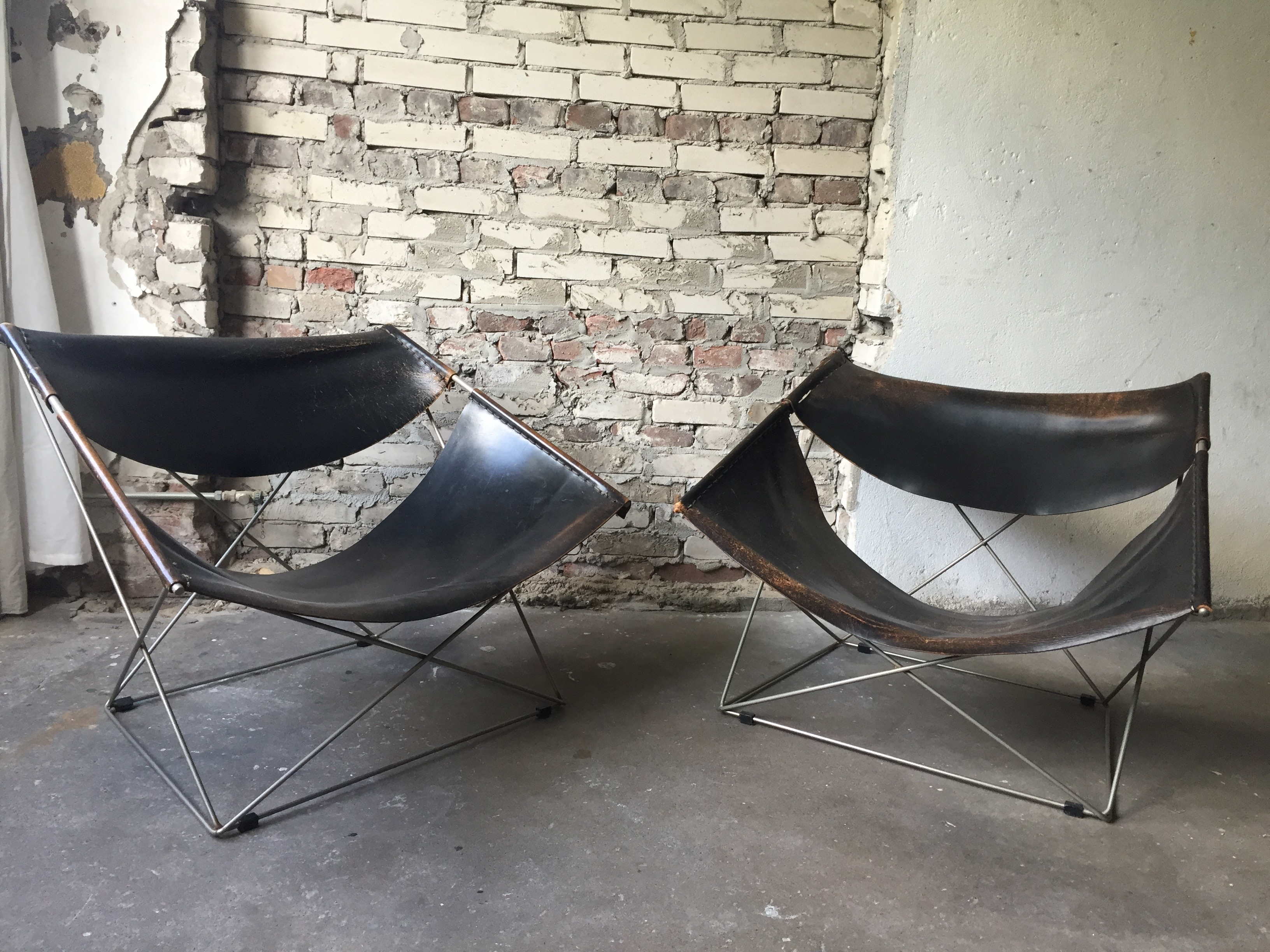 Set Of Artifort Butterfly Chairs, Designed By Pierre Paulin.