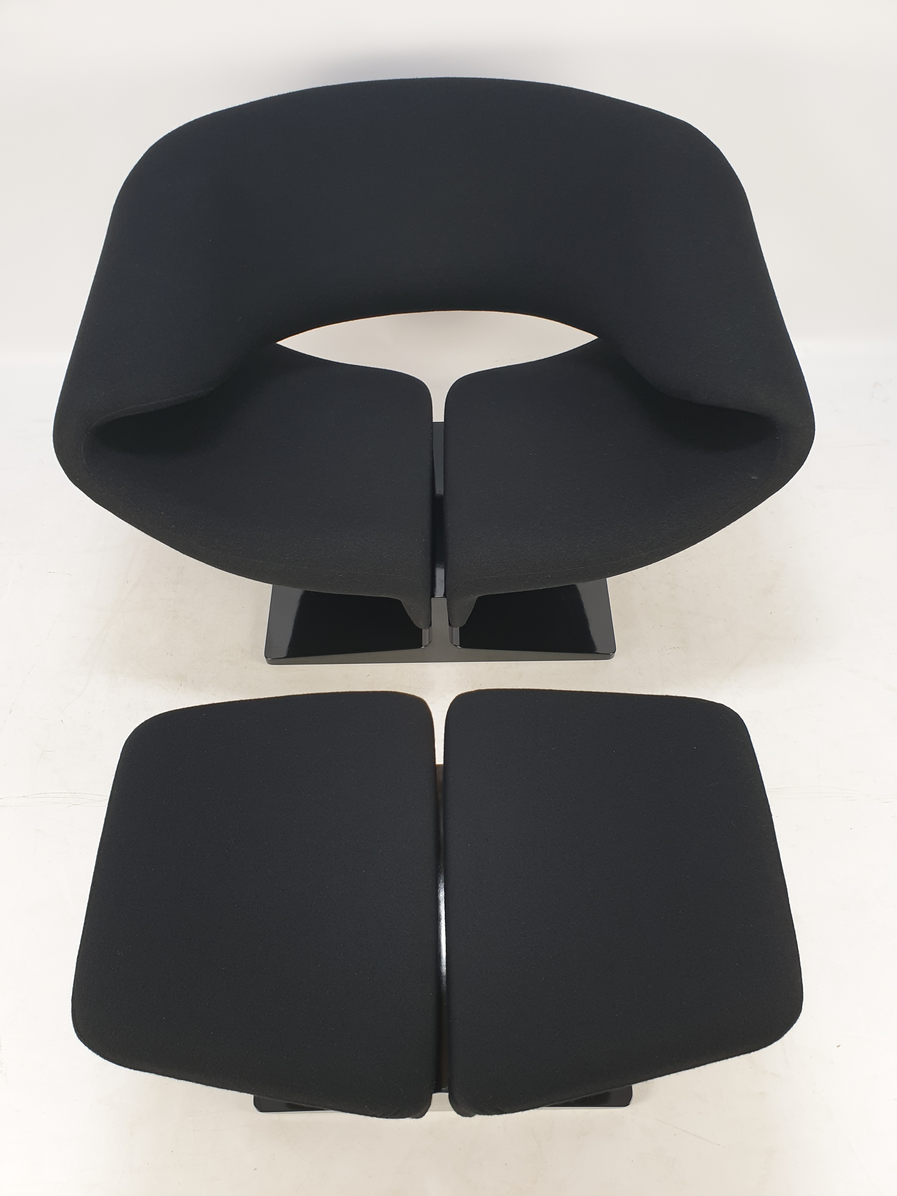 Artifort Ribbon Chair with Ottoman by Pierre Paulin