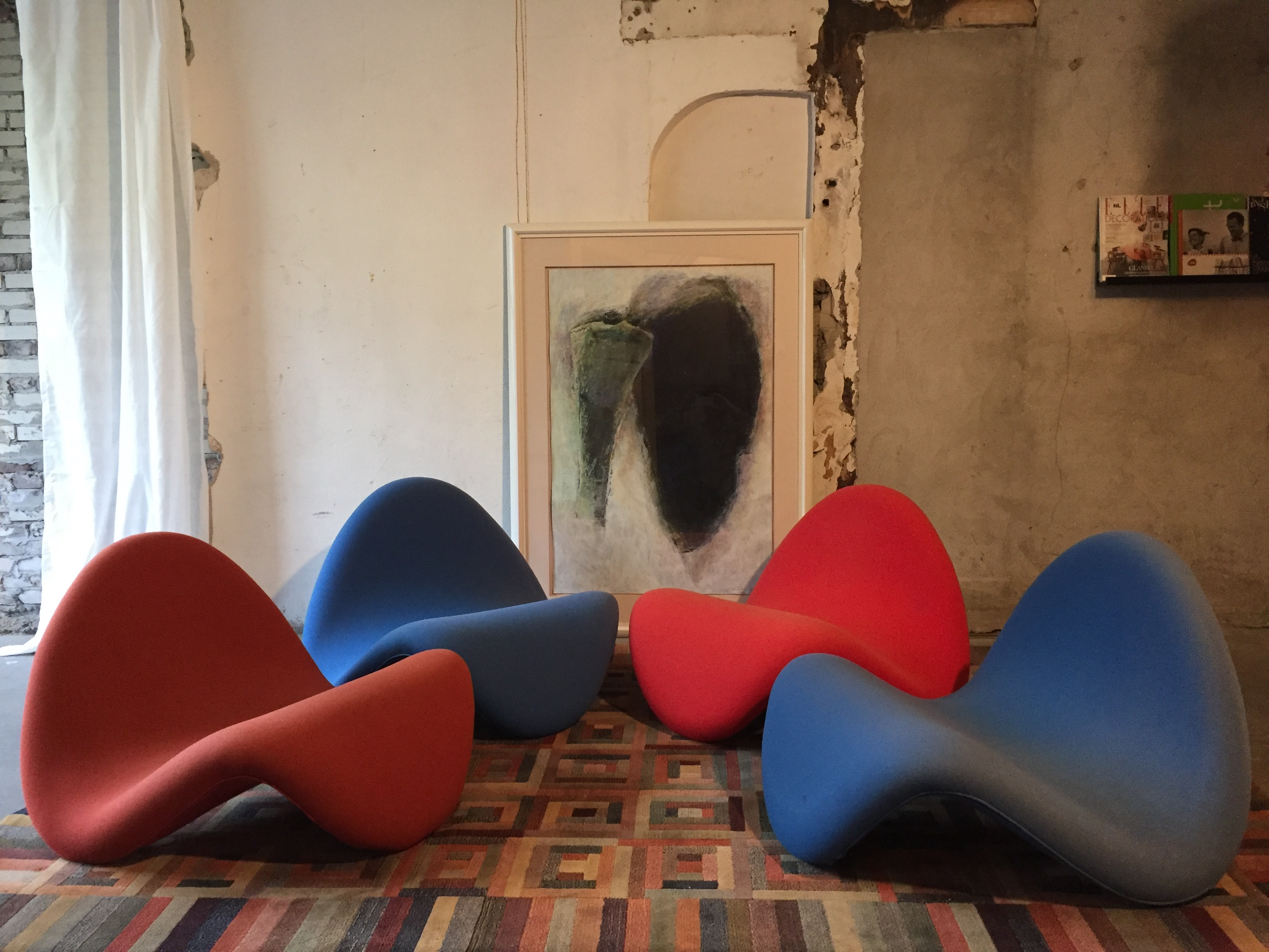 Artifort Tongue Chairs Pierre Paulin