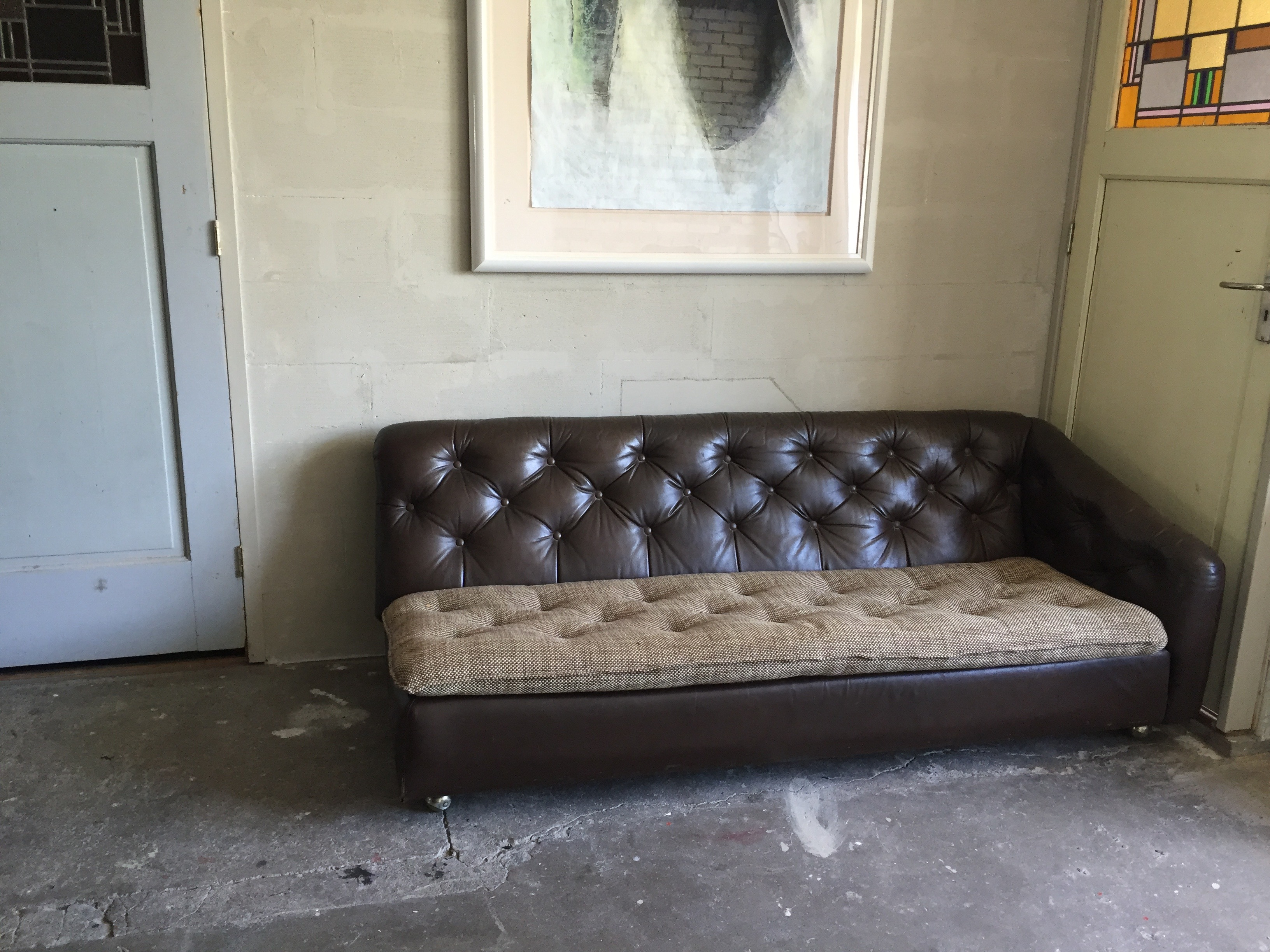 SOLD - Artifort Sofa leather. Designed by Geoffrey Harcourt. - SOLD